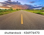 empty blur asphalt road and... | Shutterstock . vector #436976470
