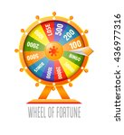wheel of fortune infographic... | Shutterstock .eps vector #436977316