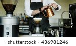 coffee cafe barista apron... | Shutterstock . vector #436981246