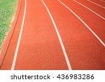 track in sport field | Shutterstock . vector #436983286
