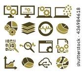 information  data icon set | Shutterstock .eps vector #436984618