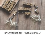fathers day concept   letter... | Shutterstock . vector #436985410