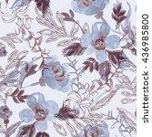 watercolor seamless pattern...   Shutterstock . vector #436985800