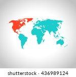 map of north america | Shutterstock .eps vector #436989124