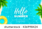 hello summer web banner.... | Shutterstock .eps vector #436998424