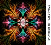 Abstract Flower Mandala On...