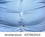 man with overweight. symbolic... | Shutterstock . vector #437002414