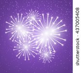 Shiny Fireworks On Purple...