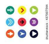 vector arrow sign icon set