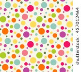 seamless pattern with colorful... | Shutterstock .eps vector #437012464