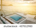 Luxury Catamaran Yacht Deck....