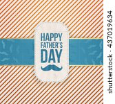 happy fathers day paper card... | Shutterstock .eps vector #437019634
