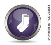 socks icon. internet button on... | Shutterstock . vector #437038666