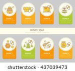 vector card template with... | Shutterstock .eps vector #437039473