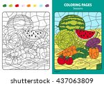 seasons coloring page for kids  ... | Shutterstock .eps vector #437063809