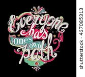 "lettering ""everyone has one's... 