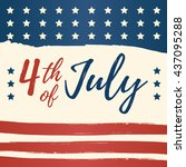 fourth of july usa independence ... | Shutterstock .eps vector #437095288