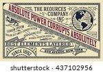 old advertising design | Shutterstock .eps vector #437102956