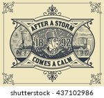card. victorian style   Shutterstock .eps vector #437102986