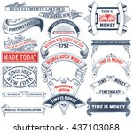 17 labels and banners. vector... | Shutterstock .eps vector #437103088