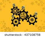 vector business and competitive ... | Shutterstock .eps vector #437108758