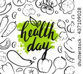world health day. modern... | Shutterstock .eps vector #437109028