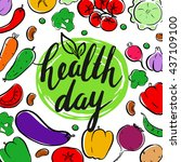 world health day. modern... | Shutterstock .eps vector #437109100