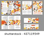 set of color abstract brochure...   Shutterstock .eps vector #437119549