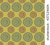 seamless elegant ornamental... | Shutterstock .eps vector #437124604