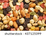 nuts and candied fruits... | Shutterstock . vector #437125399