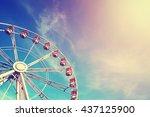 Vintage Stylized Ferris Wheel...