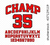 tackle twill style champion... | Shutterstock .eps vector #437129119