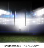 american football arena with... | Shutterstock . vector #437130094