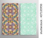 vertical seamless patterns set  ... | Shutterstock .eps vector #437135950