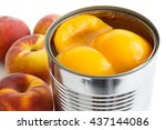 Detail Of Open Can Of Peach...