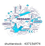 vector creative illustration of ... | Shutterstock .eps vector #437156974