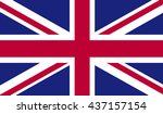flag of great britain  flag of... | Shutterstock . vector #437157154