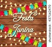 festa junina illustration  ... | Shutterstock .eps vector #437162470