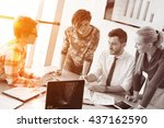 startup business young creative ... | Shutterstock . vector #437162590