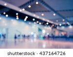 Abstract blur people in exhibition hall event background