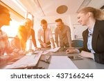 startup business young creative ... | Shutterstock . vector #437166244