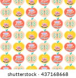seamless colorful pattern.... | Shutterstock .eps vector #437168668