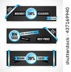 vector stickers  price tag ... | Shutterstock .eps vector #437169940