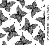 seamless pattern with... | Shutterstock .eps vector #437170393