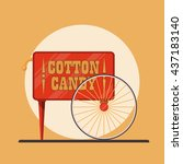 cotton candy market icon. | Shutterstock .eps vector #437183140