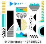 design elements. abstract line... | Shutterstock .eps vector #437185126