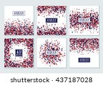 4th of july background set....   Shutterstock .eps vector #437187028