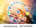 smart building and internet of... | Shutterstock . vector #437194090