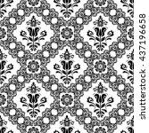 oriental vector classic pattern....   Shutterstock .eps vector #437196658