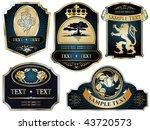 vector set  gold framed labels... | Shutterstock .eps vector #43720573